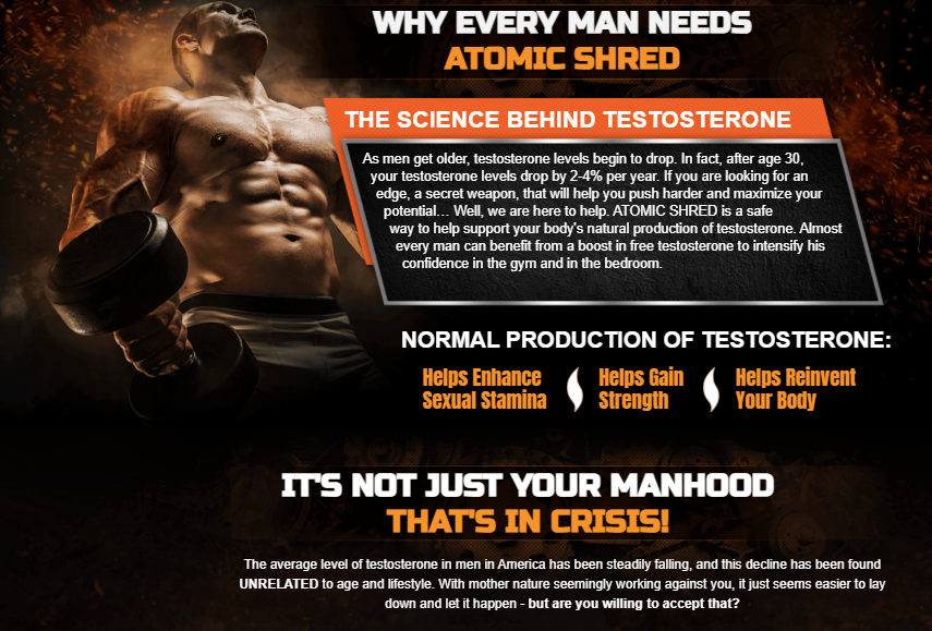 Atomic Shred Testosterone Booster